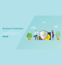 business protection security service for website vector image