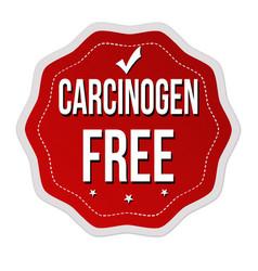 carcinogen free label or sticker vector image