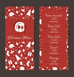 Christmas festive menu design vector