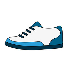 color image cartoon golf shoes port equipment vector image