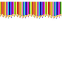 Colored pencils up line in shape of wave border vector