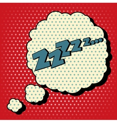 Comic Bubble in Pop Art Style with Expression Zzz vector image