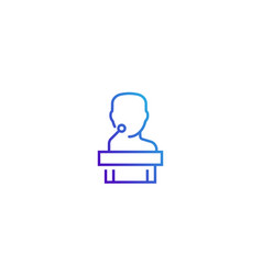 conference line icon on white vector image