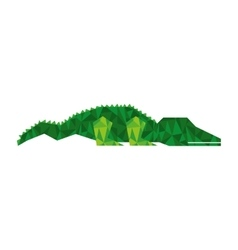 crocodile silhouette low poly icon vector image