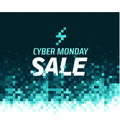Cyber monday sale concept mosaic background vector