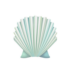 Detailed icon of scallop shell ocean vector