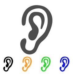 ear flat icon vector image