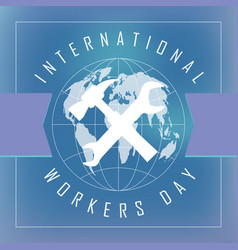 Emblem of the international workers day vector
