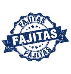 Fajitas stamp sign seal vector