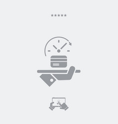 Full time atm service - web icon vector