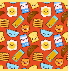 Fun seamless pattern funny characters vector