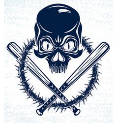 Gang brutal criminal emblem or logo vector
