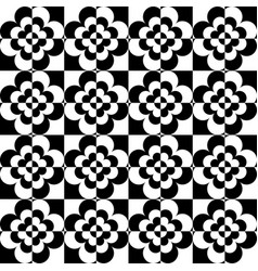 geometric pattern black and white ripple vector image