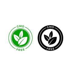 Gmo free icon green non label sign vector