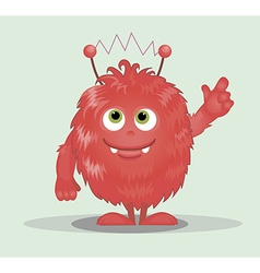 Good red furry monsters vector image