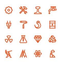 hand drawn flat icons vector image