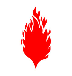 hand drawn of fire on white background design vector image