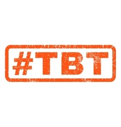 Hashtag Tbt Rubber Stamp vector image