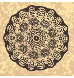 Henna inspired Colourful Mandala vector image