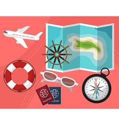 Holidays and travel to the islands with a passport vector image