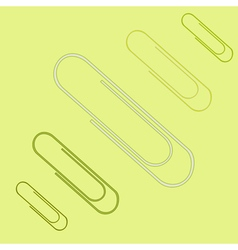 icon set with paper clips vector image
