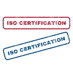 ISO Certification Rubber Stamps vector