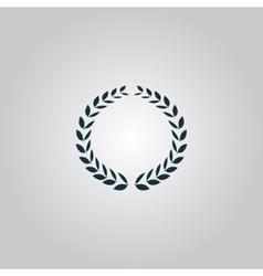Laurel wreath icon or sign i vector image