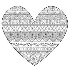 line art drawing in hearted shape for print and ad vector image
