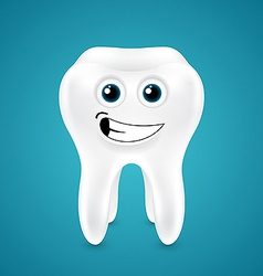 Lively smiling healthy tooth vector