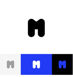 m logo icon symbol sign from letters m vector image