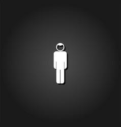 man icon flat vector image
