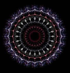Modern fractal mandala vector