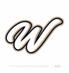 Modern professional letter emblem for sport teams vector