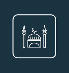 mosque icon line symbol premium quality isolated vector image