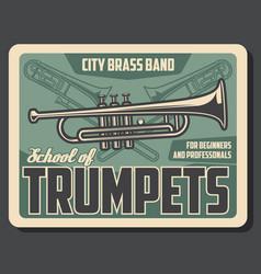 Music school trumpet musical band vector