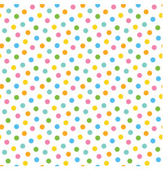 pattern background with colorful dots confetti vector image