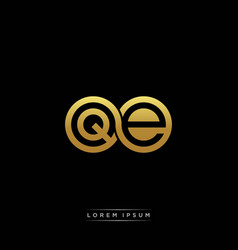qe initial letter linked circle capital monogram vector image