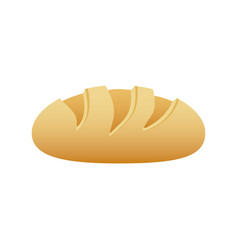 Realistic picture homemade bread food icon vector