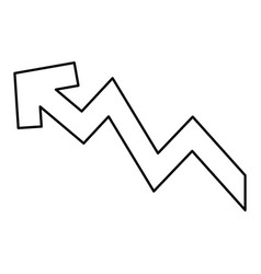 Rising arrow increase price investment concept vector