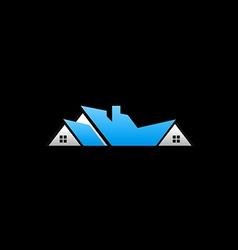Rohome abstract construction logo vector