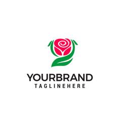 rose logo design concept template vector image