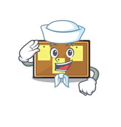 Sailor bulletin board with cartoon shape vector