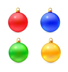 Set of isolated realistic chrismas balls vector image