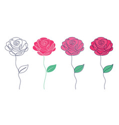 set roses vector image