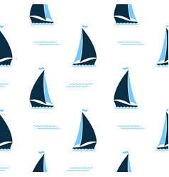 ships at sea seamless pattern marine background vector image