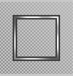 silver shiny frame vector image