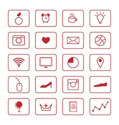 Thin line icons vector