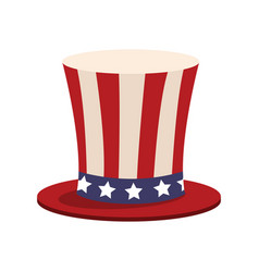 top hat american flag celebration anniversary vector image