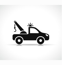 tow truck symbol icon vector image