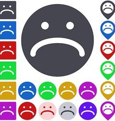 Unhappy Face Icon Set vector